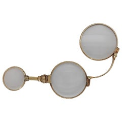 Antique 14kt Yellow Gold Lorgnette Handle Opera Eye Glasses