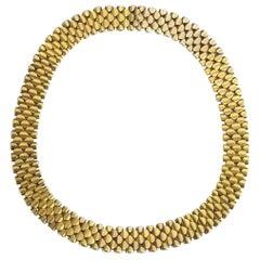Antique 15 Carat Gold Collar Necklace, circa 1875
