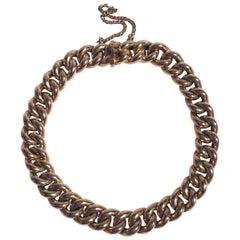 Antique 15 Carat Gold Curb Bracelet