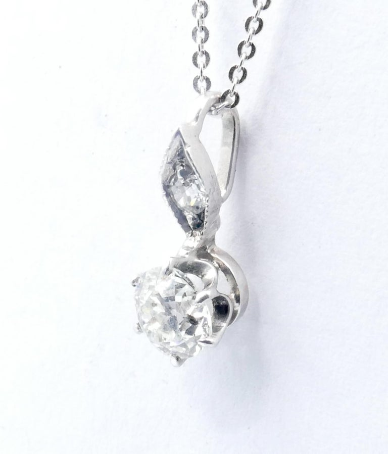 Quite rare to find an Antique Pendant now, showcasing a good Diamond at a reasonable price.                                                      This one is beautifully dainty & so well preserved.  And not so large that it would overwhelm any other