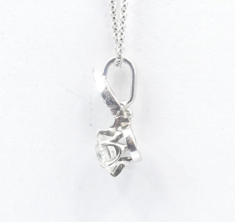 Antique 15ct White Gold Diamond Pendant In Excellent Condition For Sale In Splitter's Creek, NSW