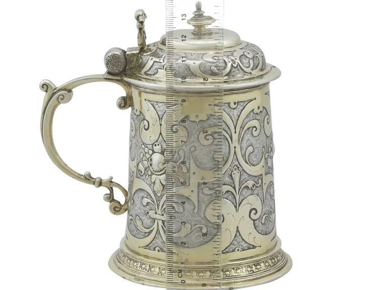 Antique German Silver Tankard For Sale 5
