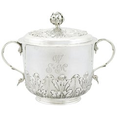 Antique 1689 Sterling Silver Porringer and Cover