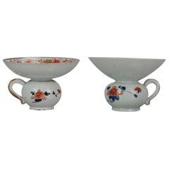 Antique 17th-18th Century Japanese Edo Porcelain Imari Arita Spittoons, Japan