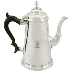 Antique 1730s Newcastle Sterling Silver Chocolate Pot