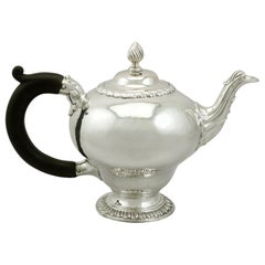 Antique 1760s Georgian Sterling Silver Bachelor Teapot