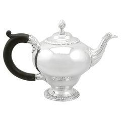 Antique 1760s Georgian Sterling Silver Bachelor Teapot