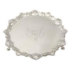 Antique 1765 Georgian Sterling Silver Salver