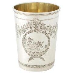 Antique 1777 Russian Silver Beaker