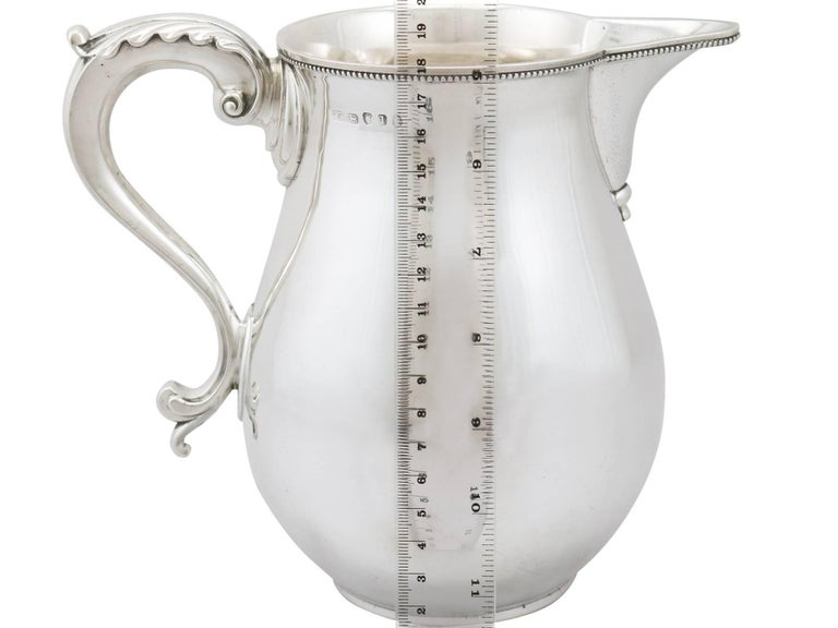 Antique 1780s Sterling Silver Beer or Water Jug by Thomas Chawner For Sale 3