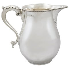 Antique 1780s Sterling Silver Beer or Water Jug by Thomas Chawner