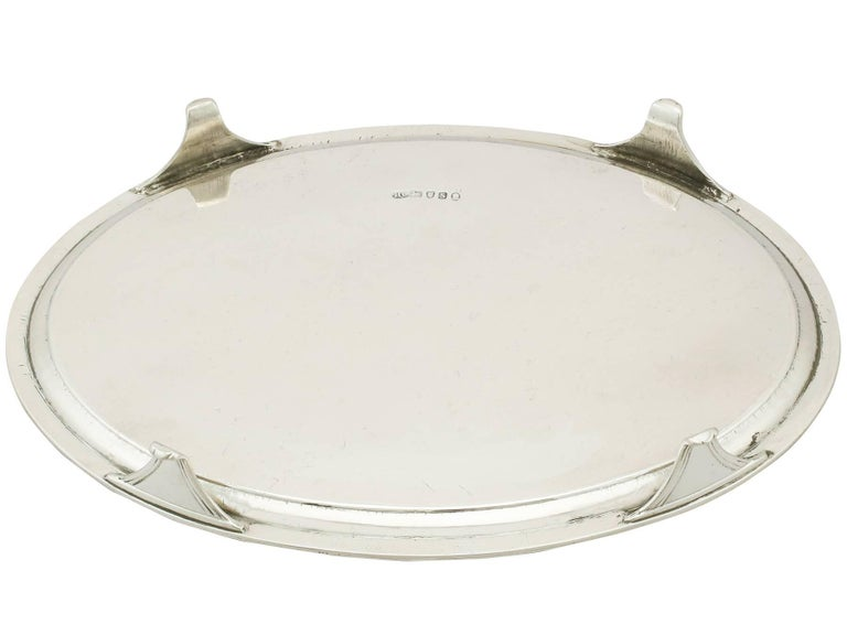 Antique 1793 Sterling Silver Salver by Henry Chawner For Sale 2