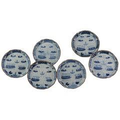 Antique 17th-18th Century Arita Plate / Dish Set Japan Japanese Edo Period