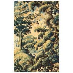 Antique 17th Century Flemish Renaissance Landscape Tapestry