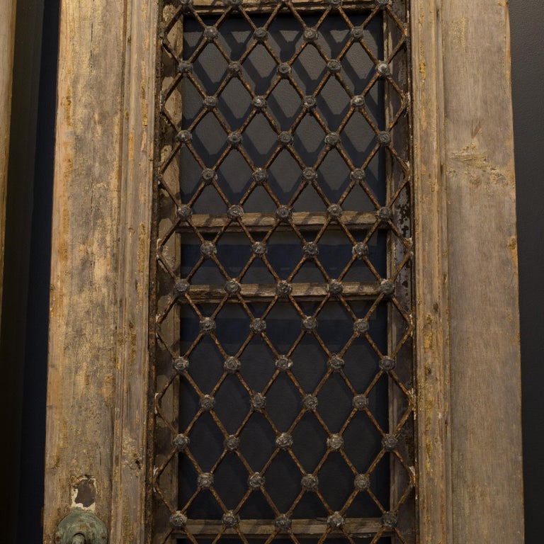 18th Century and Earlier Antique 17th Century Wood and Bronze Italian Doors, circa 1600s For Sale