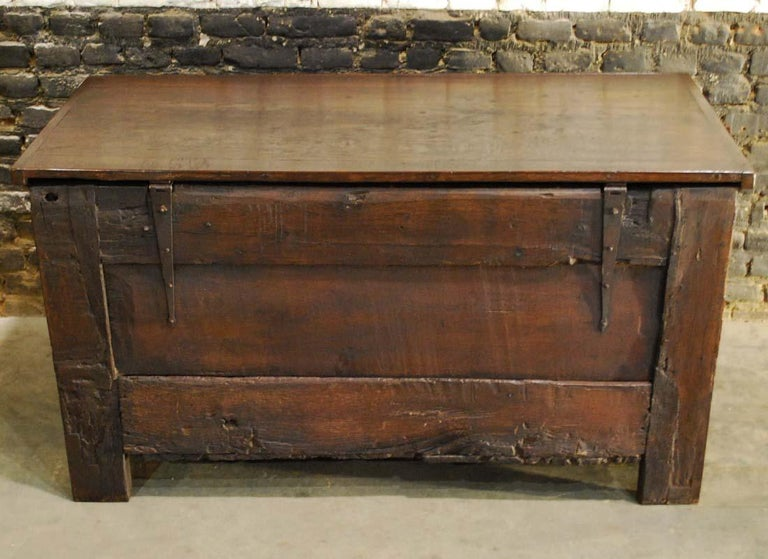 Antique 17th Century Carved Oak Dutch Renaissance Maids Chest For Sale 8