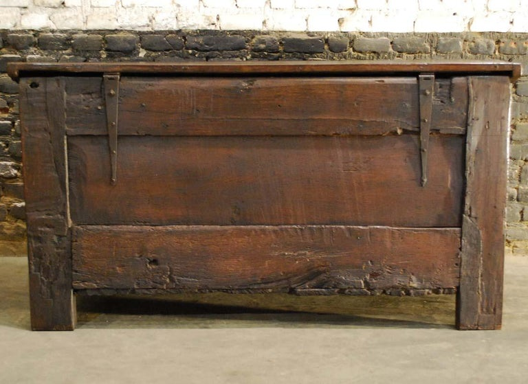Antique 17th Century Carved Oak Dutch Renaissance Maids Chest For Sale 9