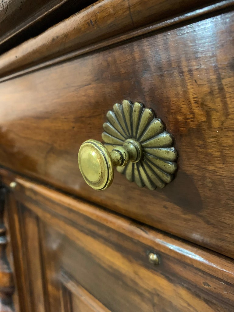 Antique 17th Century Dutch Renaissance Dresser in Oak and Walnut For Sale 14