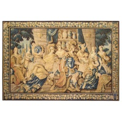 Antique 17th Century Flemish Historical Tapestry, Featuring Dido and Aeneas
