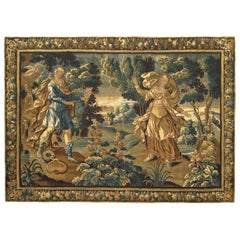 Antique 17th Century Flemish Mythological Tapestry, with the Courtship of Apollo