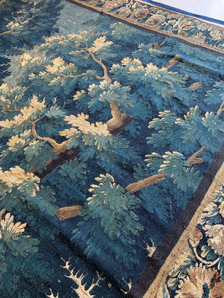 Antique 17th Century Flemish Verdure Landscape Tapestry For Sale 2