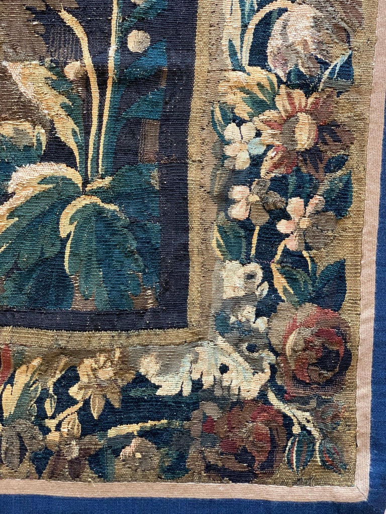 Antique 17th Century Flemish Verdure Landscape Tapestry In Good Condition For Sale In New York, NY