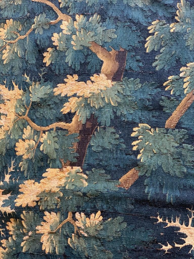 Antique 17th Century Flemish Verdure Landscape Tapestry For Sale 1
