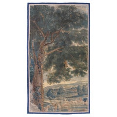 Antique 17th Century Flemish Verdure Landscape Tapestry