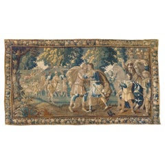 Antique 17th Century Flemish Verdure Tapestry Reconciliation of Jacob and Esau