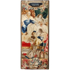 Antique 17th Century Historical Tapestry, featuring the French King Charlemagne