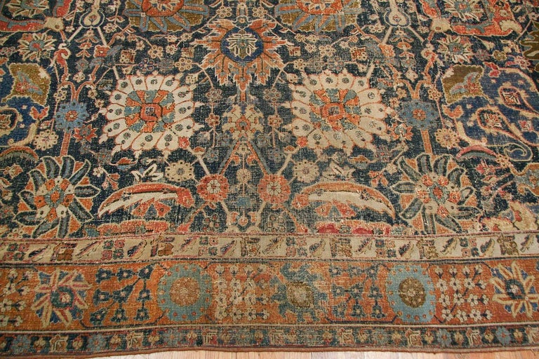 Rare Antique 17th century Kerman vase carpet, country of origin: Persia, circa 17th century. Size: 11 ft 5 in x 20 ft 2 in (3.48 m x 6.15 m).   In the antique rug industry, rugs of Persian origin are considered to be particularly valuable. The