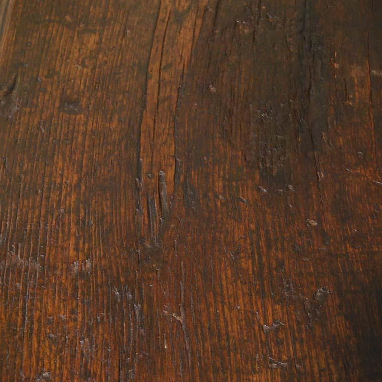 Antique 17th Century Spanish Chestnut Carved Trunk or Chest For Sale 5