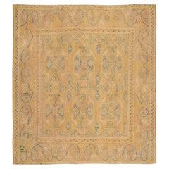 Antique 17th Century Spanish Cuenca Carpet. Size: 10' x 11' (3.05 m x 3.35 m)