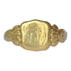 Antique 18 Carat Gold Signet Ring