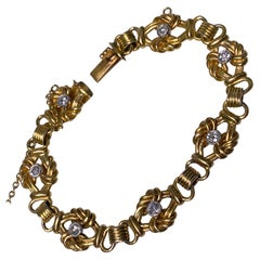 Antique 18 Karat Diamond Bracelet, circa 1900
