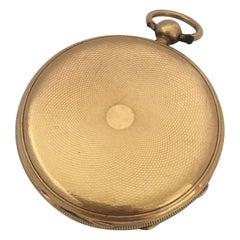 Antique 18 Karat Gold Engine Turned Case Stauffer Chaux-de-Fonds Pocket Watch