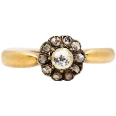 Antique 18 Karat Gold Victorian Diamonds Ring