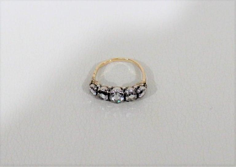 Antique 18-Karat Ladies Gold and Diamond Ring In Good Condition For Sale In Hamilton, Ontario