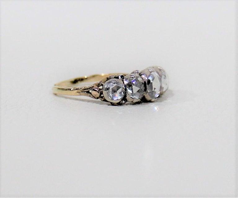 Antique 18-Karat Ladies Gold and Diamond Ring For Sale 1