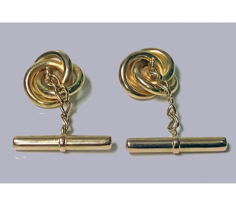Gold Antique 18 Karat Sapphire Cufflinks, circa 1930 For Sale