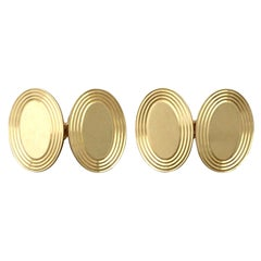 Antique 18 Karat Yellow Gold Cufflinks