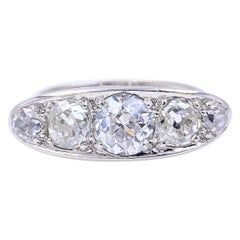 Antique 1.80 Carat Old Mine Cut Diamond Ring Platinum Lambert Bros