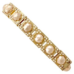 Antique 1830s Yellow Gold and Rose Gold Bracelet