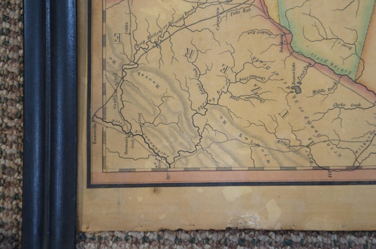 Antique 1833 Thomas Gordon Map of The State of New Jersey H.S. Tanner For Sale 4
