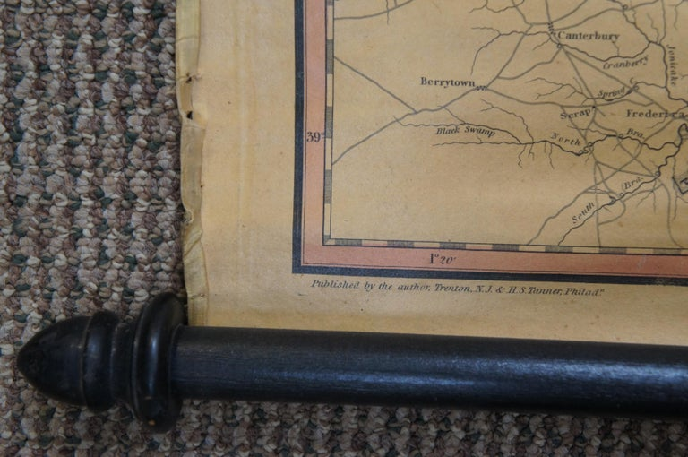 Antique 1833 Thomas Gordon Map of The State of New Jersey H.S. Tanner For Sale 1