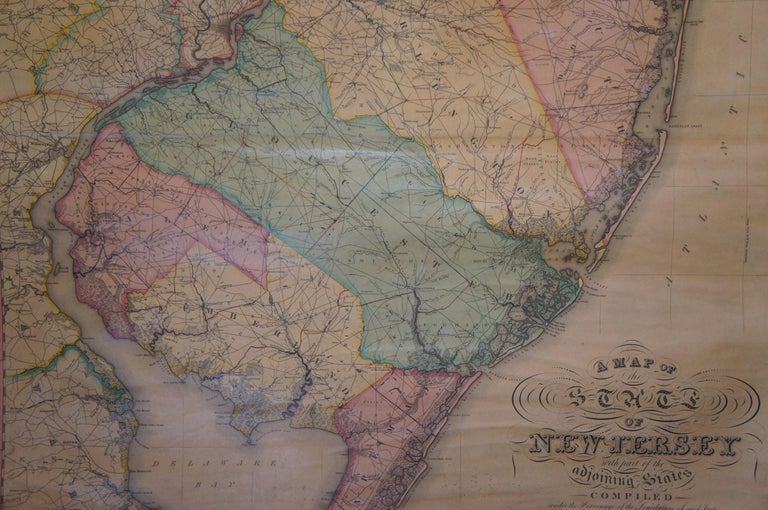 Antique 1833 Thomas Gordon Map of The State of New Jersey H.S. Tanner For Sale 2