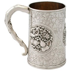 Antique 1850s Chinese Export Silver Mug