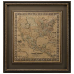 1857 Wall Map of the United States by Fanning, Bridgman & Ensign
