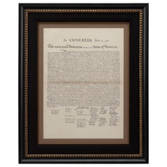 Antique 1877 Declaration of Independence Foldout