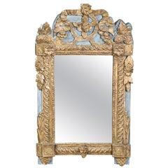Antique 1880s Era Italian Venetian Gilded Painted Mirror